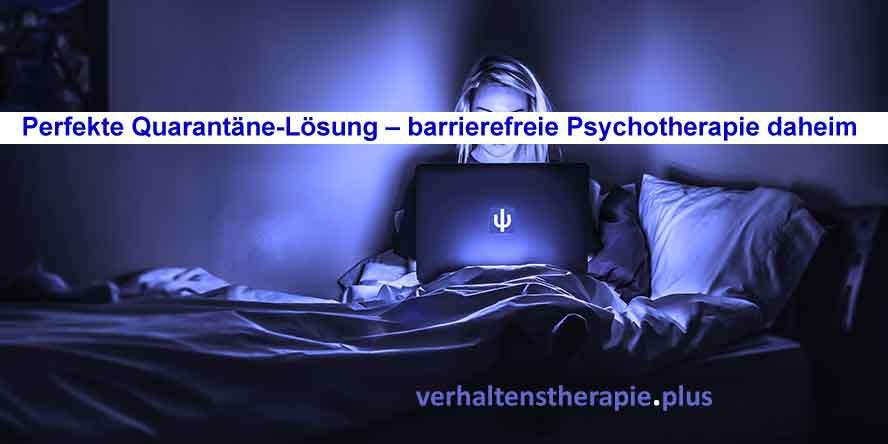 Kognitive Verhaltenstherapie online mit der Verhaltenstherapeutin oder dem Verhaltenstherapeuten